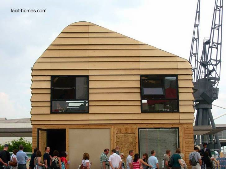 Casa moderna de dos plantas construida en seco con madera sistema D-Process