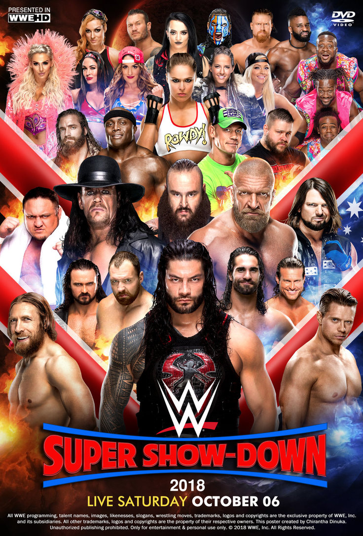 WWE Super Show Down 5th October 2018 700MB HDRip 480p x264