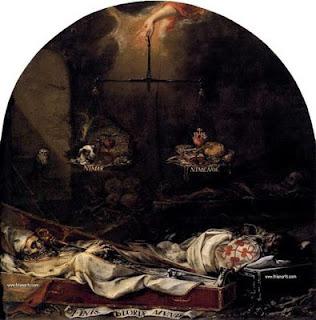 La muerte en la Semana Santa es representada en la pintura barroca española por Valdés Leal