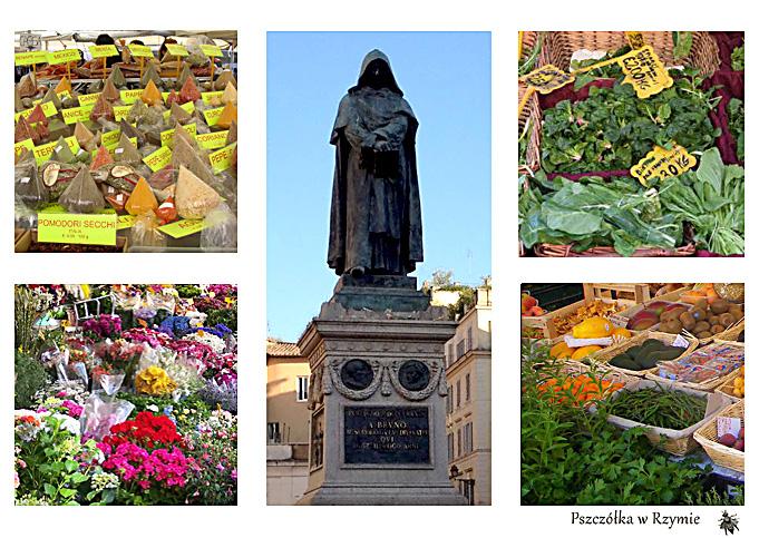 Pszczołka W Rzymie Campo Defiori W Kwiatach I Przyprawach