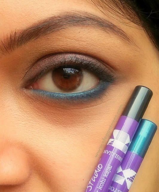 Plum Natur Studio All Day Wear Kohl Kajal Review, Swatches (Black Brilliance and Gemstone Green)