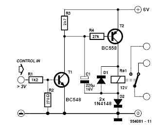 Simple Relay Step-Up Circuit Diagram