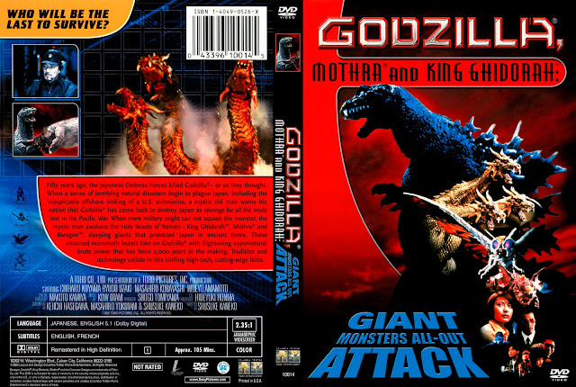 Capa DVD Godzilla Mothra And King Ghidorah Giant Monsters All-Out Attack