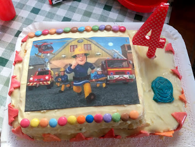 Torta Sam il pompiere - Festa di compleanno a tema