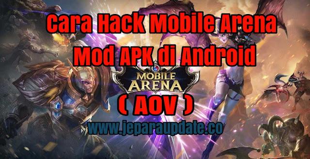 Cara Hack Mobile Arena Mod APK di Android
