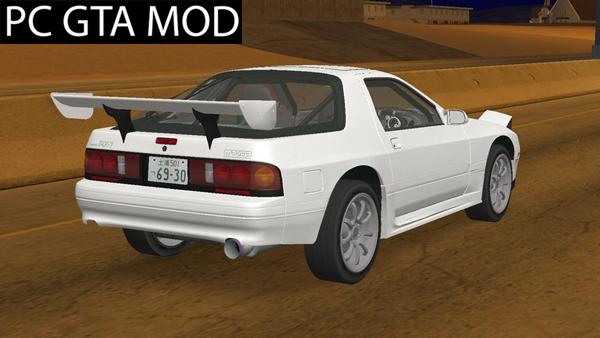 Free Download Mazda RX7 FC3S Wangan Style Edited Mod for GTA San Andreas.
