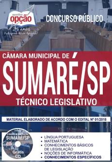 Apostila Concurso Câmara de Sumaré 2018 Técnico Legislativo