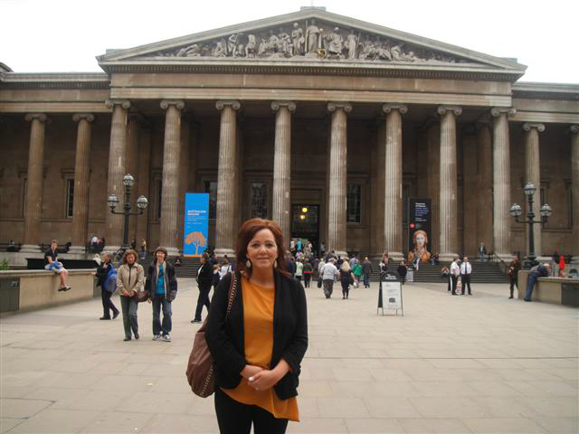 Emma Brown at the British Museum Tuesday, 16 October 2012