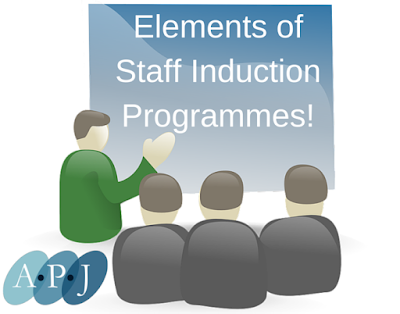 Elements of Staff Induction Programmes