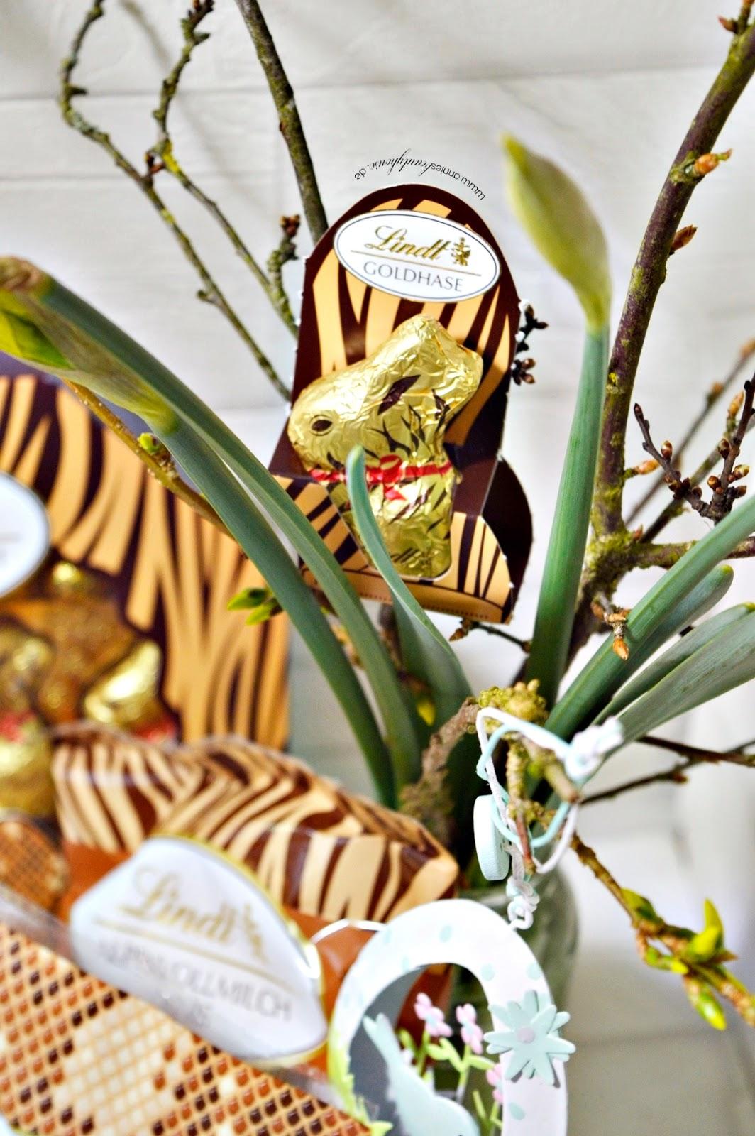 Easter bunny wears Animal Print Easter basket