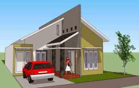 ide populer 36+ rumah atap miring satu sisi