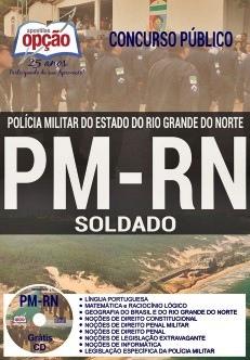 Apostilas Concurso Polícia Militar RN 2018 Soldado