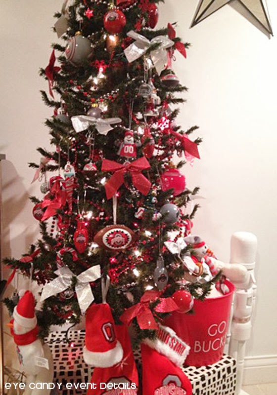 Eye Candy Creative Studio: Man Cave Christmas Decor + OSU Tree