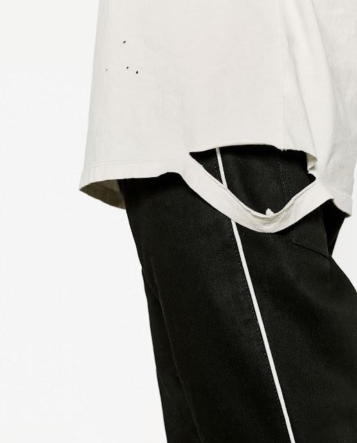 Camiseta con rotos para hombre - Zara