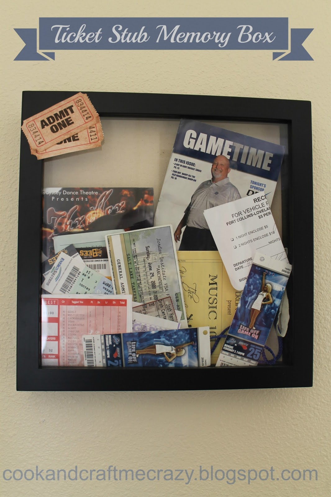 Cook And Craft Me Crazy Ticket Stub Memory Box