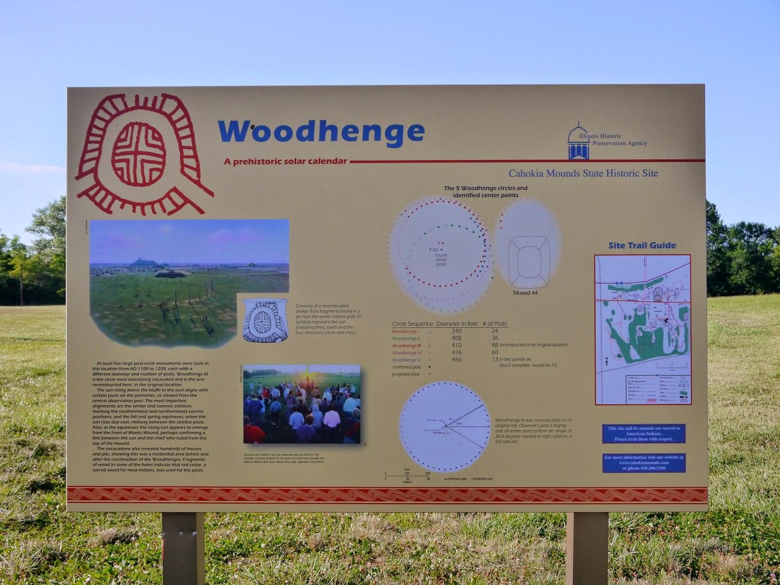 American Travel Journal: Woodhenge - Cahokia Mounds State
