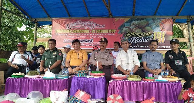Ini Pengakuan Tripika dan Masyarakat Ponre Terhadap Turnamen Ahmading ST Rabiah Cup 2018