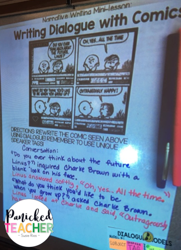 comic strips in the classroom, comic strip mini-lesson