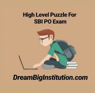 High Level Puzzle For SBI PO  2018 Exam