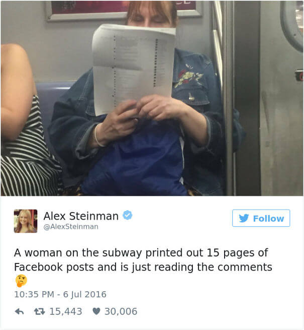 25 Hilarious Times Our Grand Parents Failed To Use Social Media - This Woman On The Subway