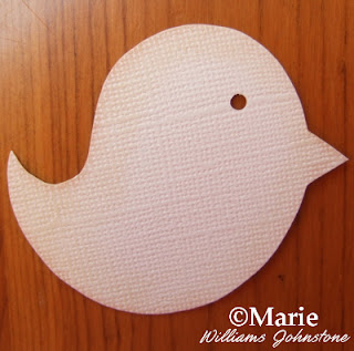 Textured Bazzill cream card used to make a paper bird