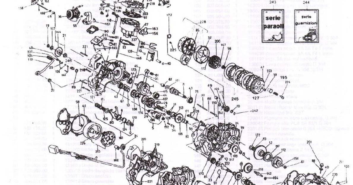 Malaguti Fifty: Esploso Motore Franco Morini G303