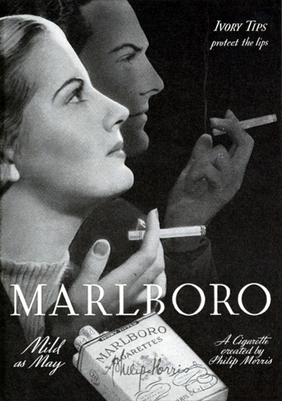 Marlboro advertising 1938