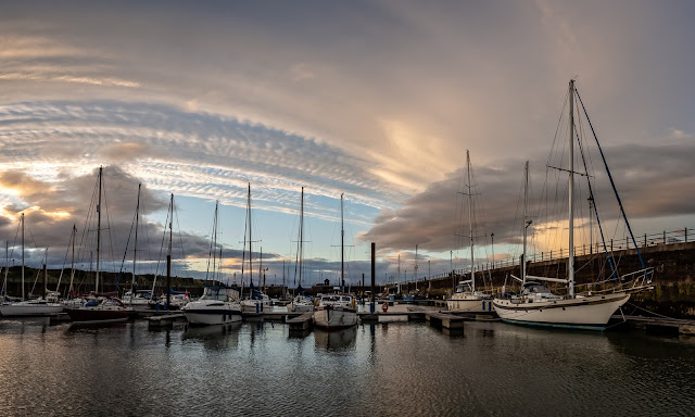 Photo of interesting cloud formations over Maryport Marina on Wednesday evening
