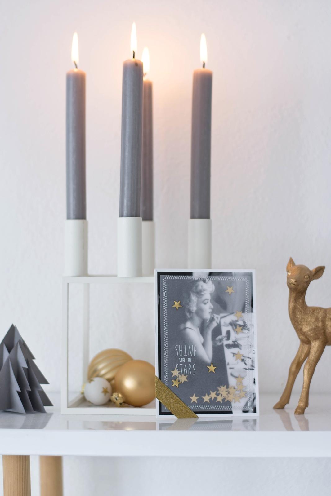 DIY Weihnachtskarte Marilyn Monroe