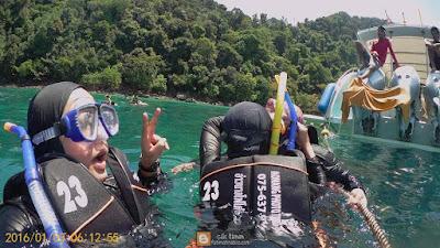 snorkeling, monkey bay, krabi, thailand