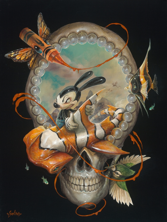 12-A-Summer-Vacation-Greg-Craola-Simkins-Fantastical-Surreal-Paintings-Full-of-Details