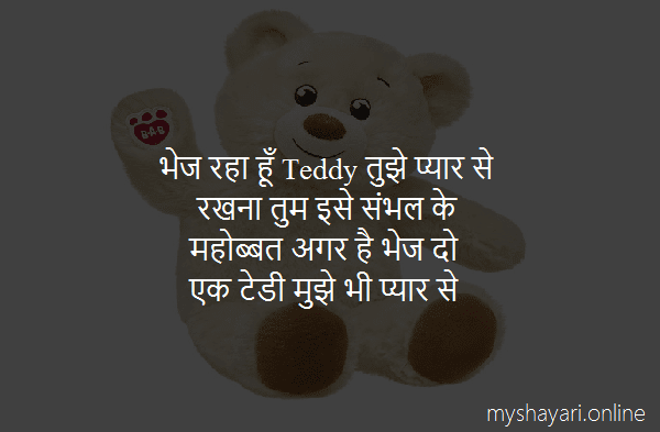 Teddy Day Shayari for Girlfriend in Hindi