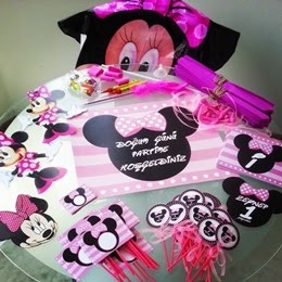 Minnie Mouse 1 yaş parti paketi