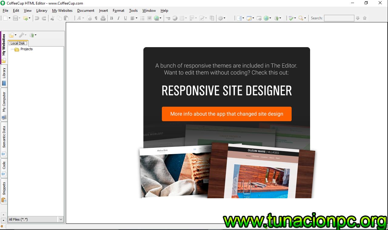 Descargar CoffeeCup HTML Editor