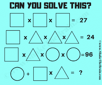 It this Brain Teaser you challenge is to solve the given simultaneous equations