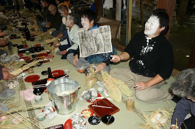 Oshiroi Matsuri (Face Paint Festival)   December, Asakura-shi, Fukuoka