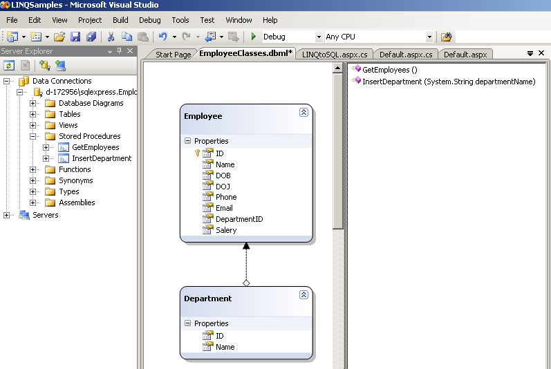 netinterviewmadeeasy: LINQ to SQL - call stored procedure
