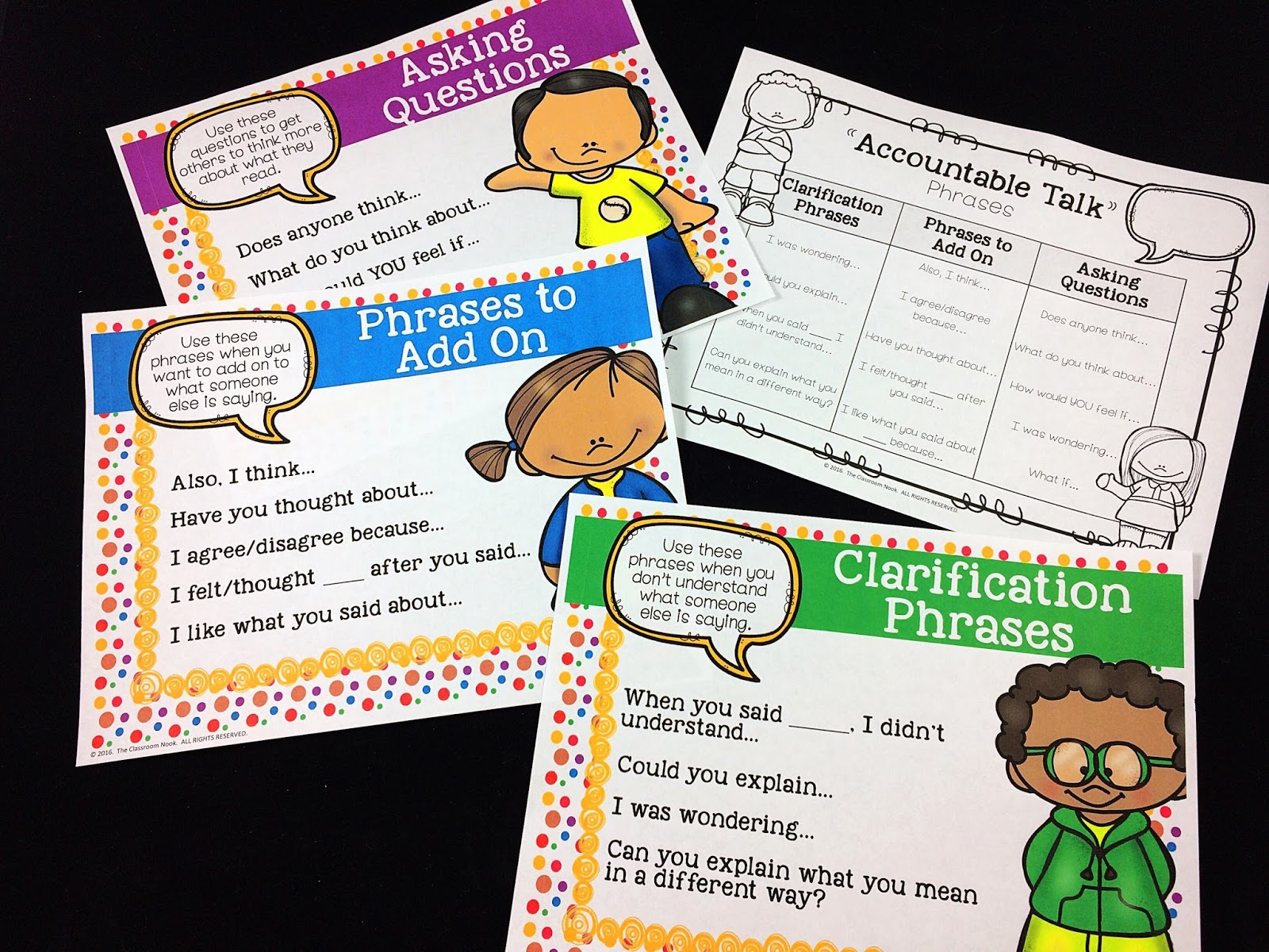 Accountable talk is a discussion format that helps guides students in having meaningful conversations with one another.