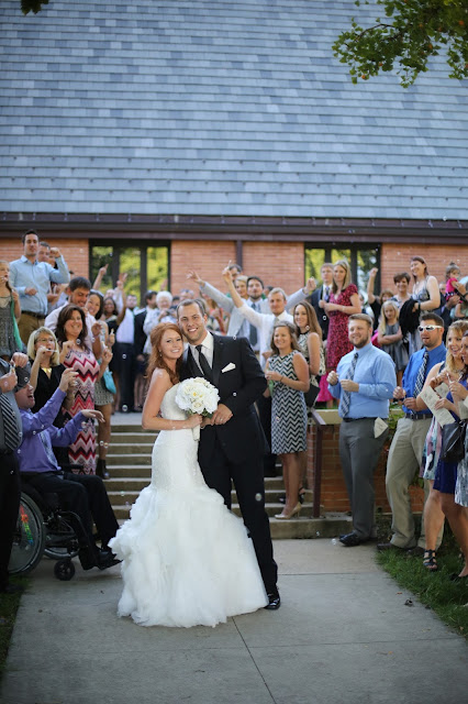 Methodist Church Sioux City Wedding bubble exit
