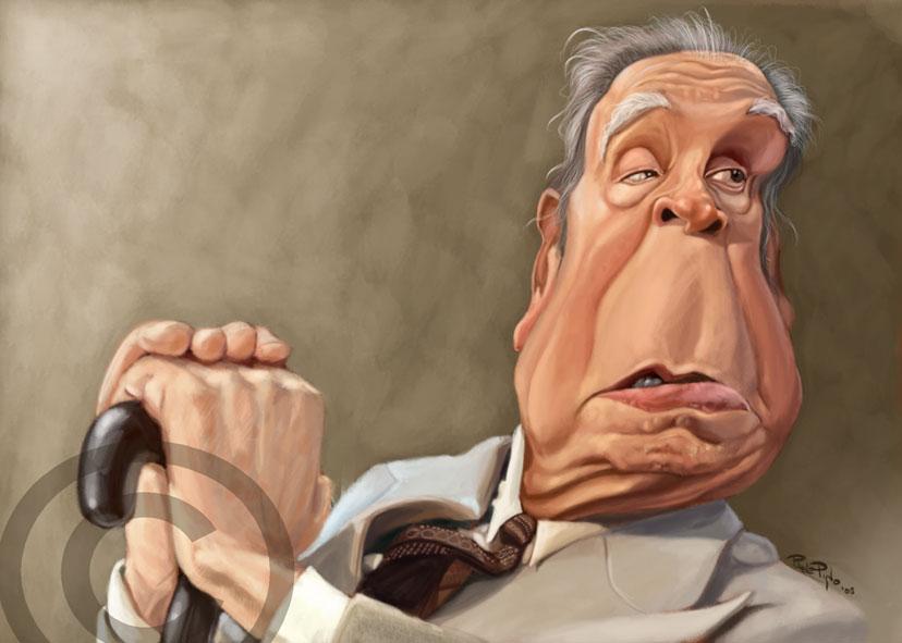 """Jorge Luis Borges"" por Pablo Pino"