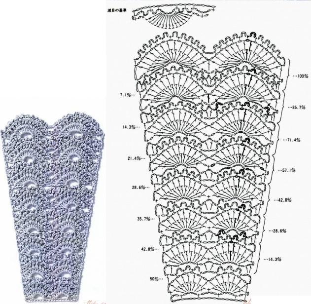 Крючок - узоры для вязаной юбки: большая подборка схем
