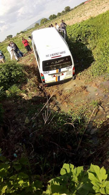 Photos: Road accident involving another Peace Mass Transit commercial bus today
