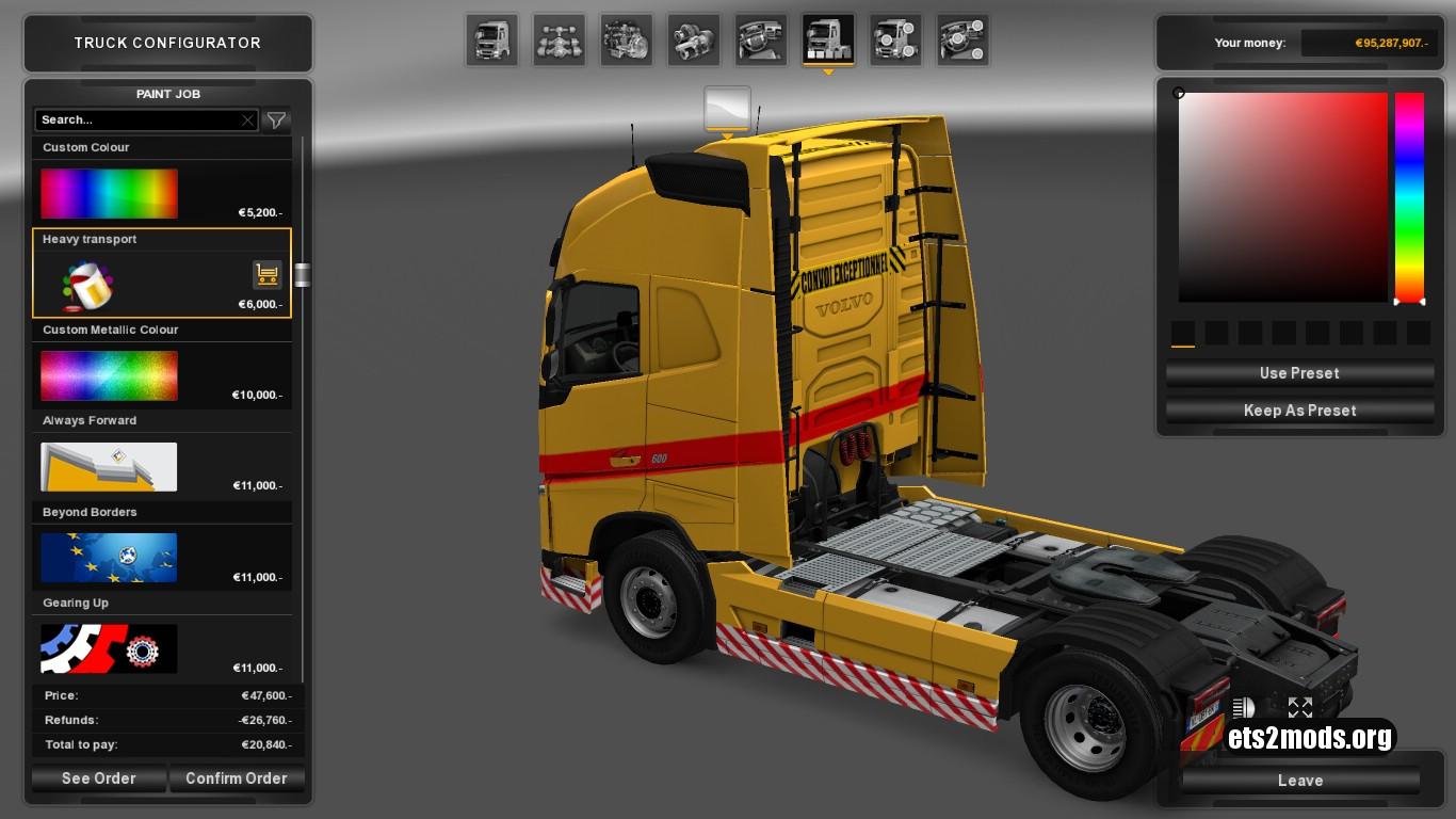 Volvo 2012 Convoi Exceptionnal Skin V 1.1