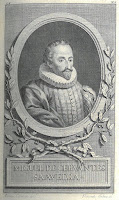 frontispiece with an image of Cervantes