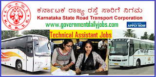 KSRTC Recruitment 2018 for 726 Vacancies for Technical Assistant Jobs