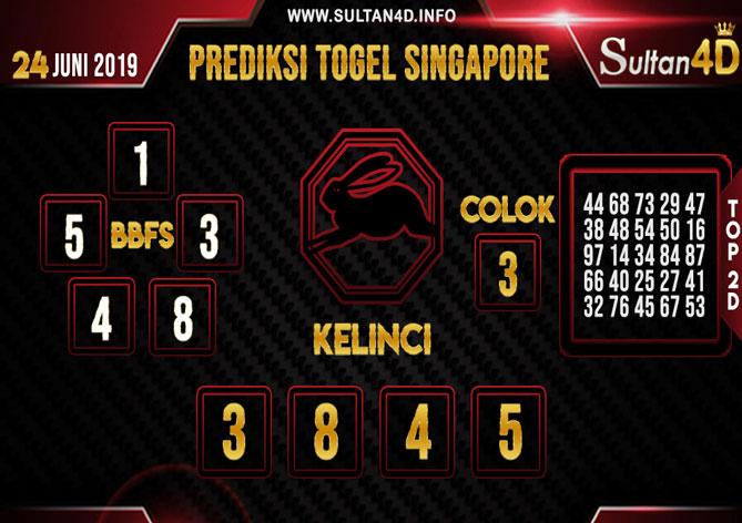 PREDIKSI TOGEL SINGAPORE SULTAN4D 24 JUNI 2019