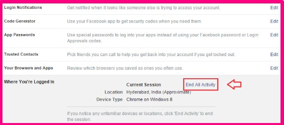 how to logout from facebook messenger from computer