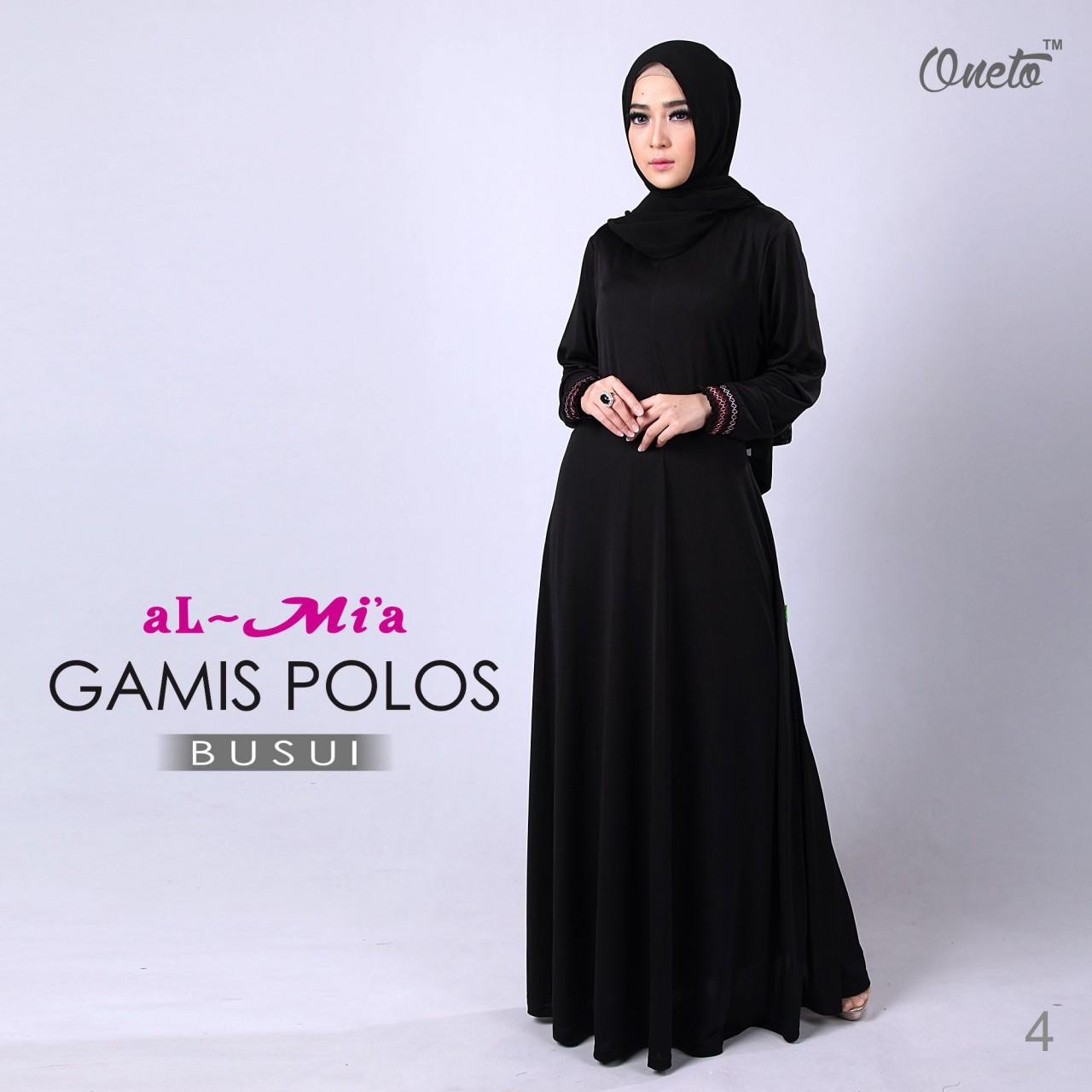 Grammy Ed Model Gamis Polos Dari Kain Katun Jepang
