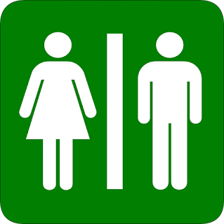 male and female bathroom sign