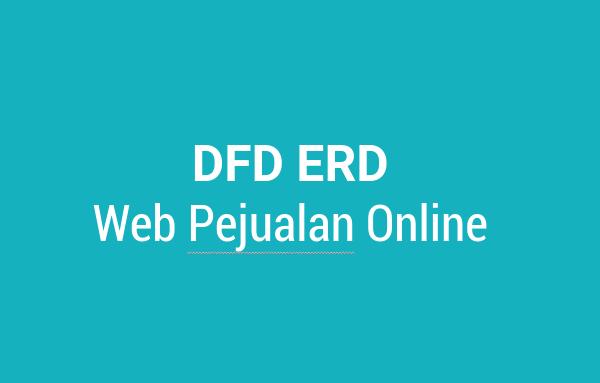 DFD ERD Web Penjualan Online